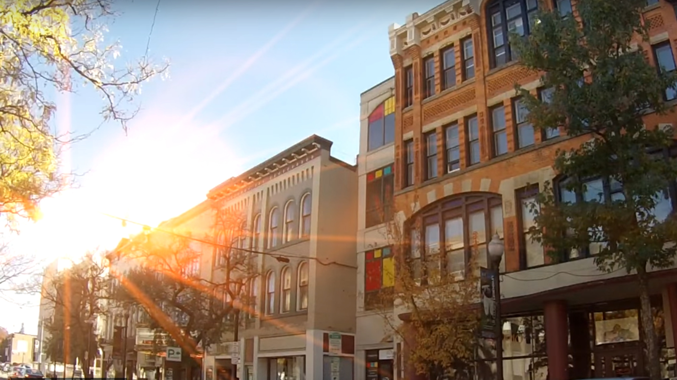 City of Jamestown NY Third Street Sunrise