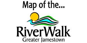 City of Jamestown Greater Jamestown Riverwalk Map